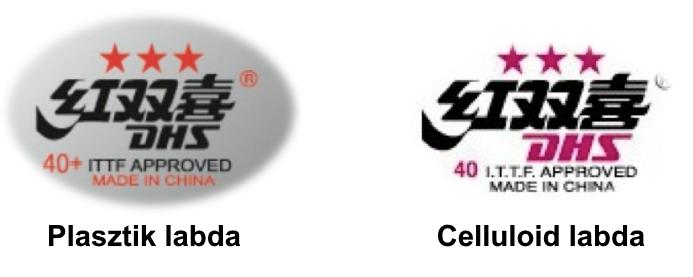 Plasztik és celluloid labda bélyege