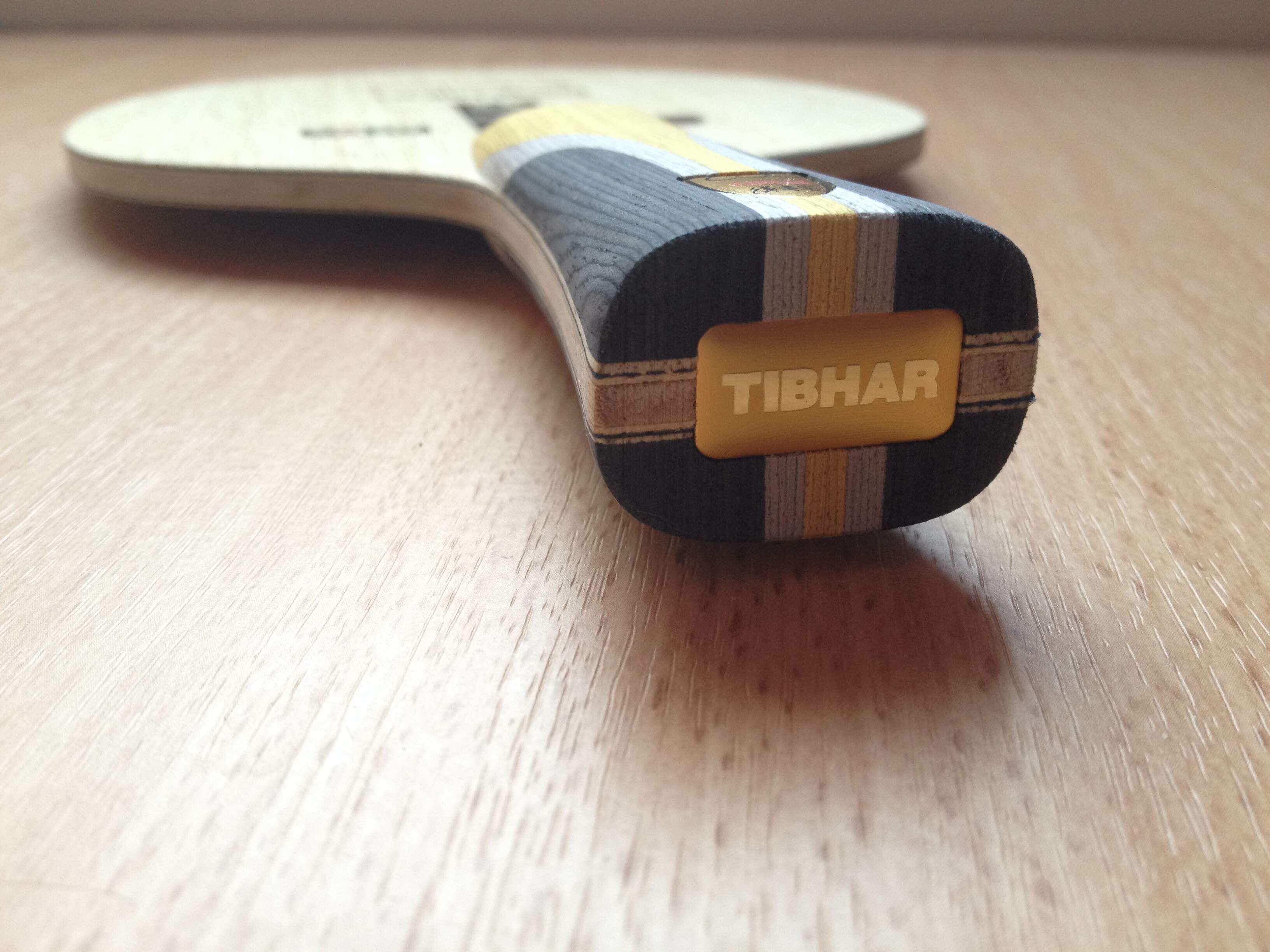 Tibhar CCA Unlimited asztalitenisz-ütőfa nyél felőli nézete
