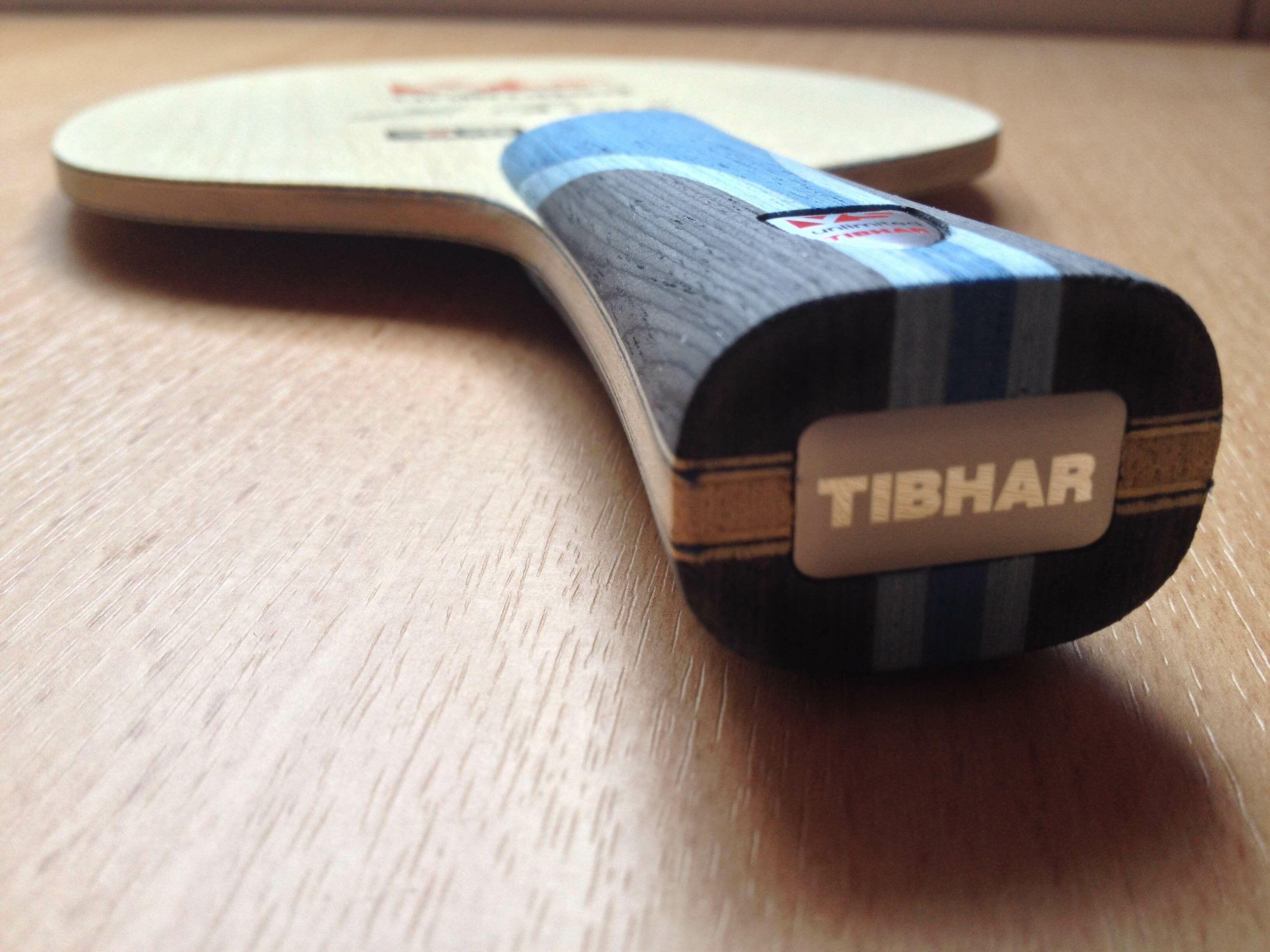 Tibhar VS Unlimited ütőfa zoom nézete nyél felöl