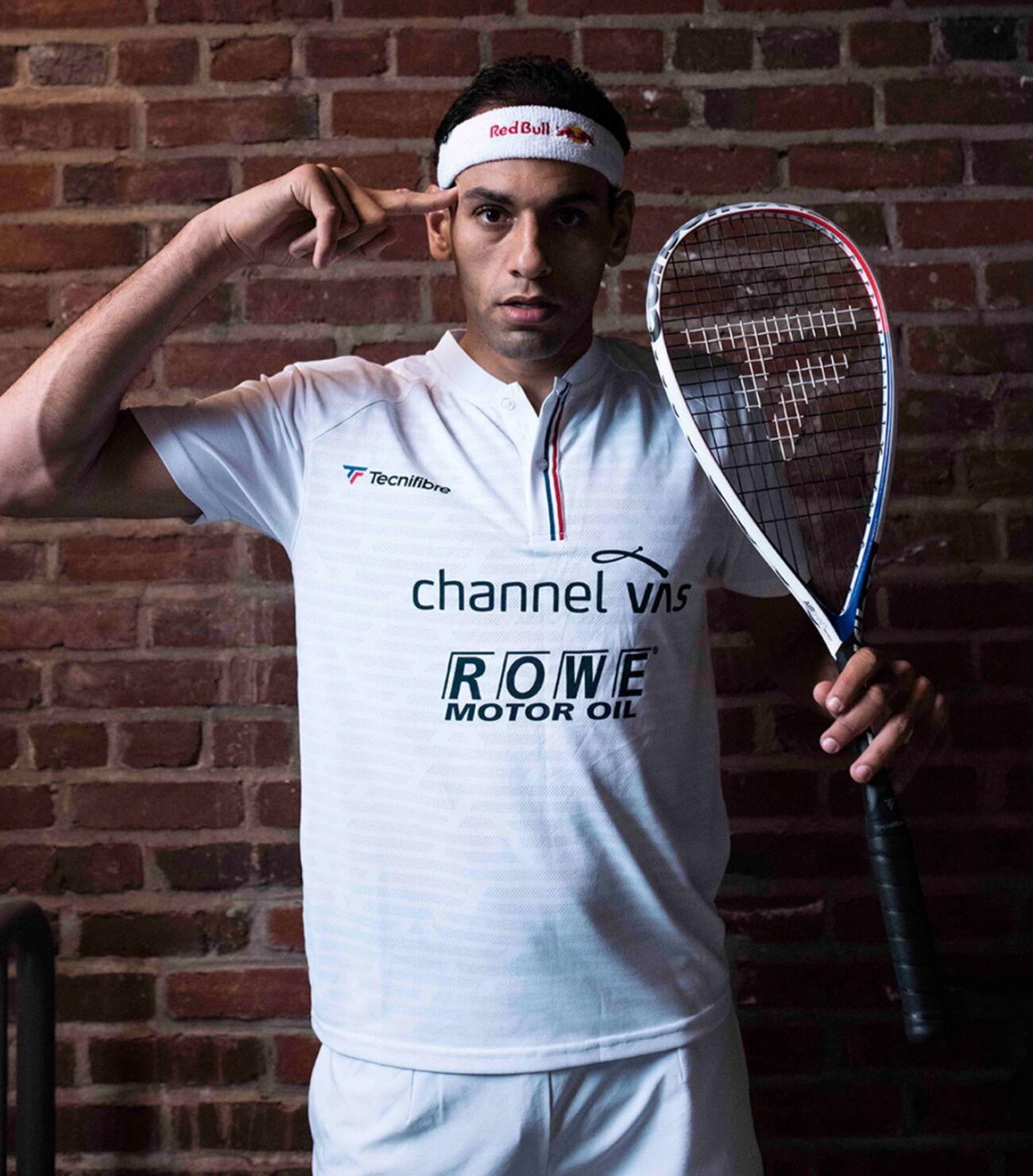 Mohamed El Shorbagy a Tecnifibre Carboflex 125 Airshaft squash ütővel versenyzik 2020-tól.