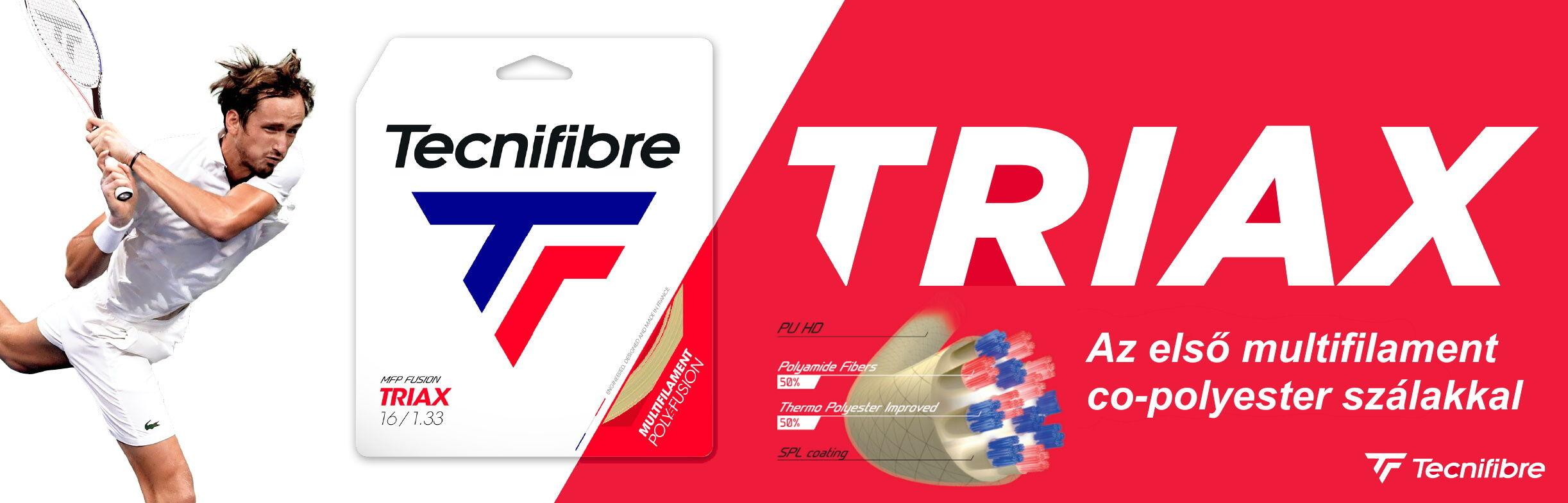 Tecnifibre Triax teniszhúr - az első multifilament co-polyester szálakkal