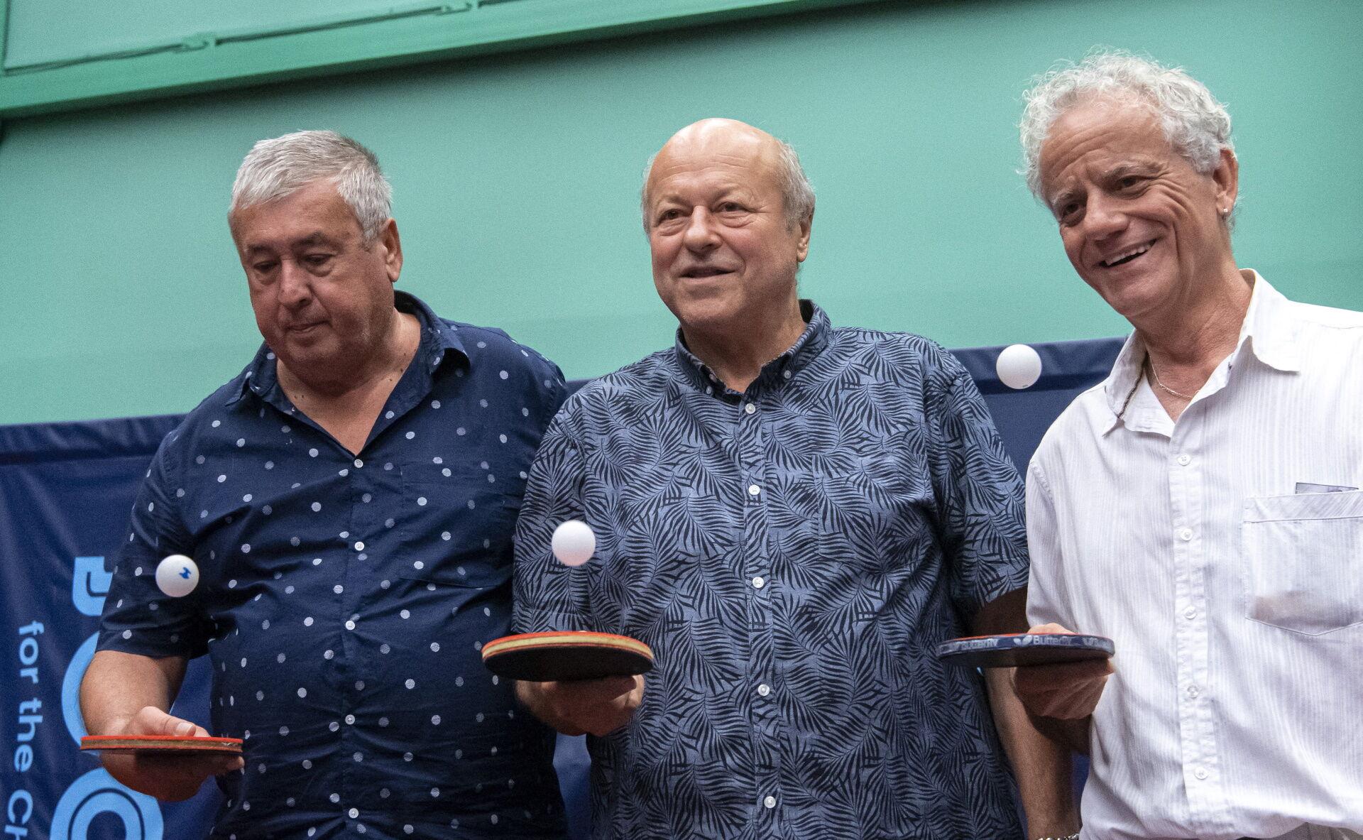 Jónyer István 70. születésnapjának ünneplésén csapattársaival Klampár Tiborral és Gergely Gáborral.
