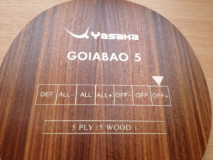 Yasaka Goiabao 5 asztalitenisz-ütőfa