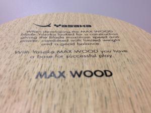 Yasaka Max Wood asztalitenisz-ütőfa