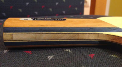 LHS 3P1K asztalitenisz ütőfa oldalnézete