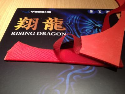 Yasaka Rising Dragon asztalitenisz-borítás szétbontott állapotban