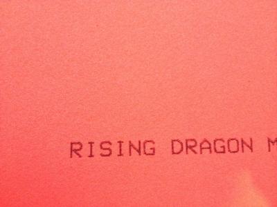 Yasaka Rising Dragon asztalitenisz-borítás szivacsa