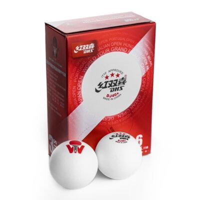 DHS 3-Star DJ40+ ITTF pingponglabda (6 db/doboz)