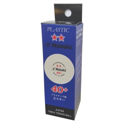 Nittaku 2-Star 40+ pingponglabda fehér (3 db/doboz)
