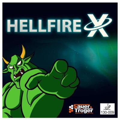 Sauer & Tröger Hellfire X hosszúszemcsés asztalitenisz-borítás borítója