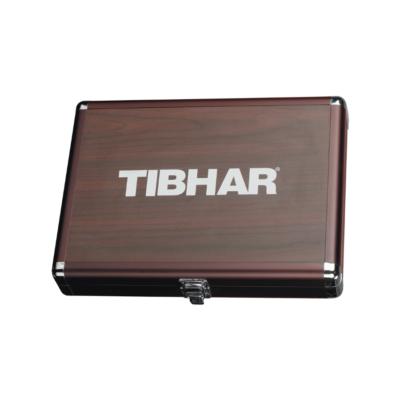 Tibhar Alum Cube Premium négyzetes alu ütőtok - fa színű
