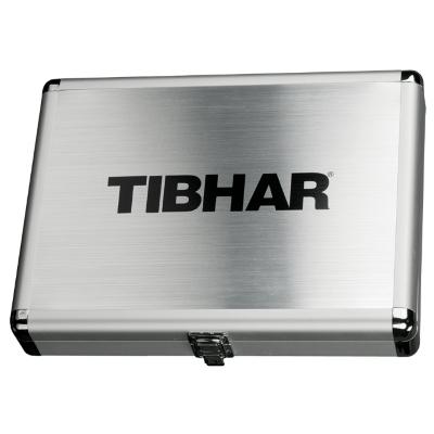 Tibhar Cube Exclusive négyzetes alu ütőtok - ezüst
