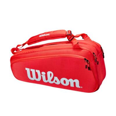 Wilson Super Tour 6PK piros tenisztáska