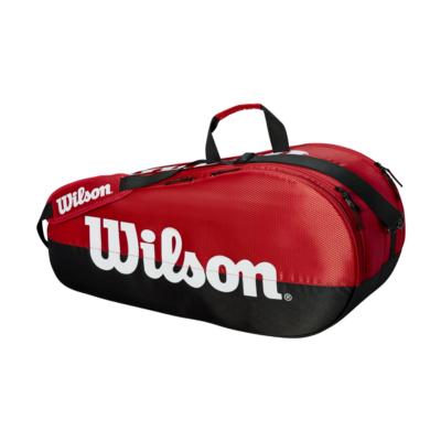 Wilson Team 2 Comp 9PK piros-fekete ütőtáska
