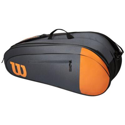 Wilson Team 6PK fekete-narancsszínű ütőtáska