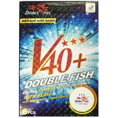 Double Fish V40+ 3-Star pingponglabda (6 db/doboz)