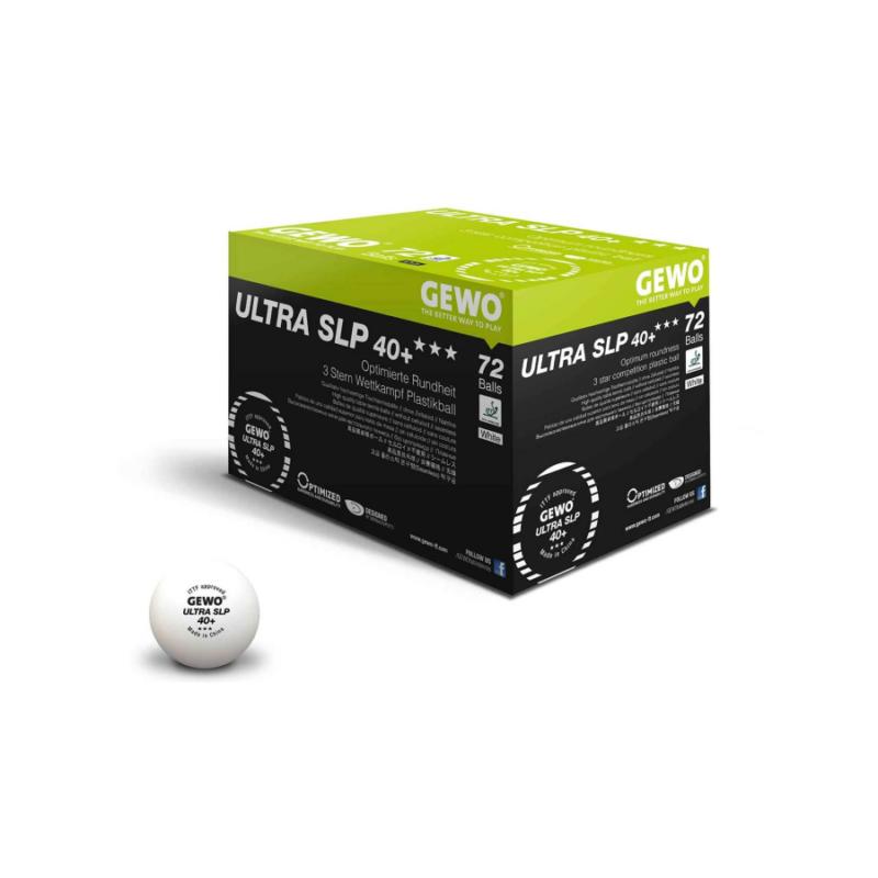 Gewo Ultra SLP 40+ 3-Star pingponglabda (72 db/doboz)