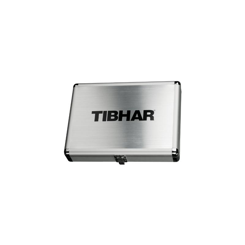 Tibhar Alum Cube Exclusive négyzetes alu ütőtok - ezüst