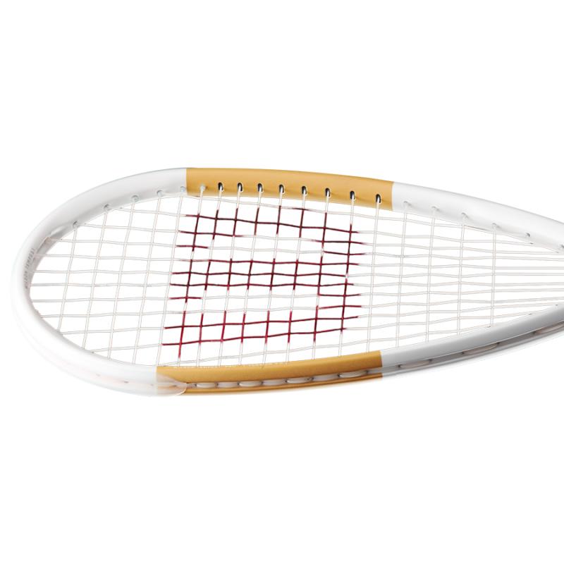 Wilson Tempest Pro fehér-arany squash ütő feje