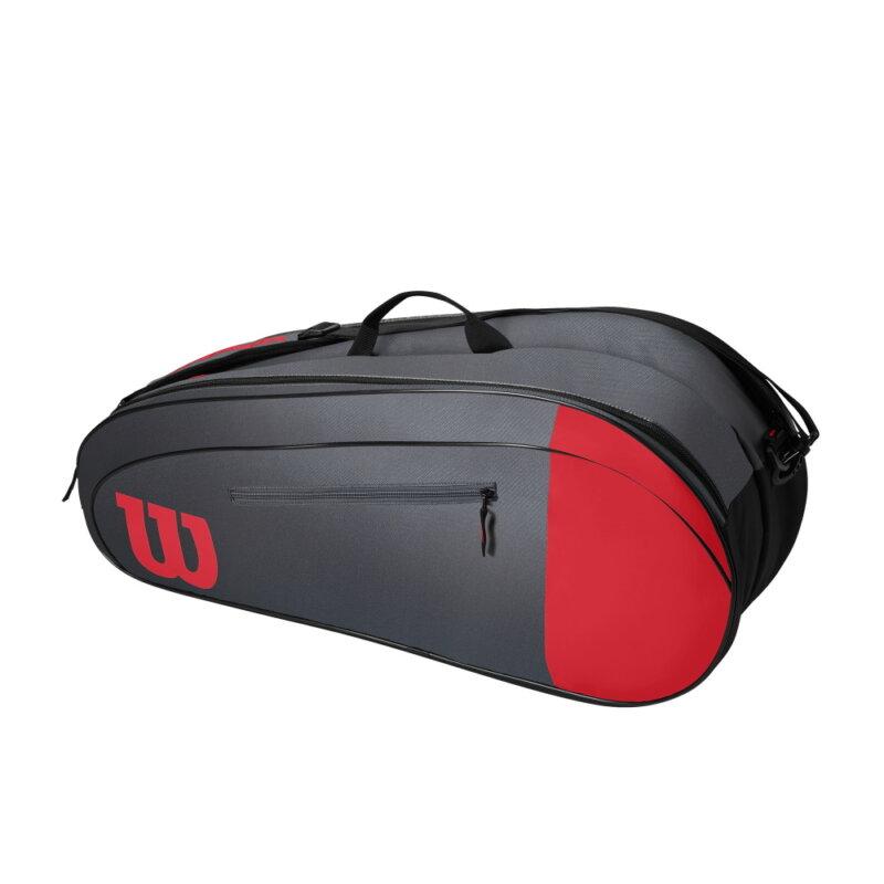 Wilson Team 6PK piros-szürke színű ütőtáska