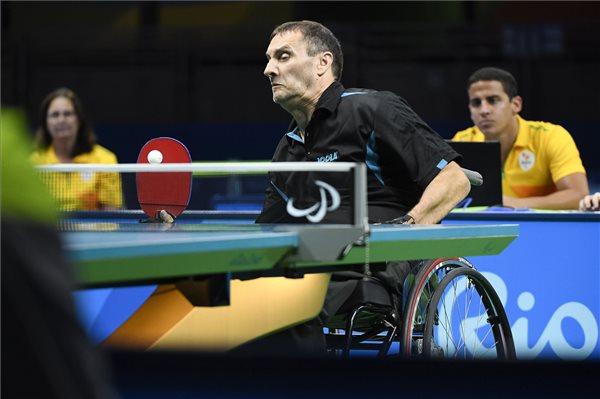 Paralimpia 2016 - Major Endre asztaliteniszező negyedik helyezett lett