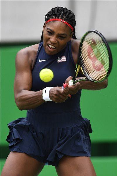Rió 2016 - Serena Williams az ausztrál Davrila Gavrilova elleni mérkőzésen.