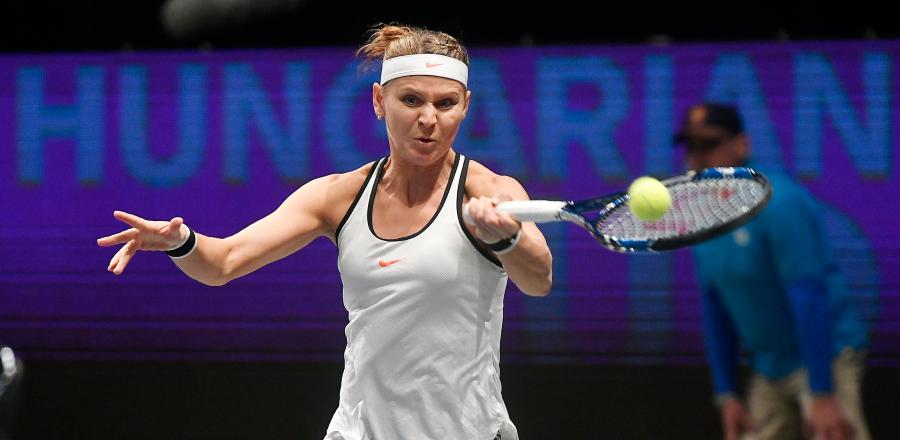 Lucie Safarova játszik a budapesti WTA tenisztorna első napján.